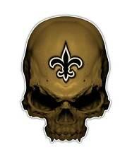 2 Fleur De Lis Skull Decal - Saints Sticker Football Graphic ipad laptop decals