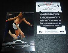 Benson Henderson UFC 2013 Topps Finest Card #43 164 150 144 129 WEC 53 48 46 43