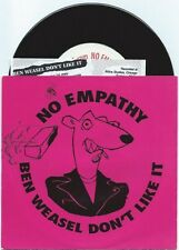 """No Empathy """"Ben Weasel Don't Like It"""" 7"""" OOP Screeching The Queers Riverdales"""