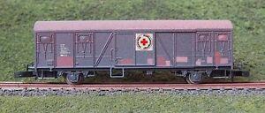 "FR 46.811 Z scale SJ litt Gbs Box car ""Röda korset"" Swedish Railroad in Metal"