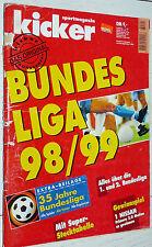 KICKER FUSSBALL BUNDESLIGA 1998-1999 SONDERHEFT GUIDE BAYERN WERDER FOOTBALL
