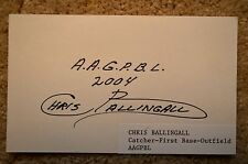 1953 1954 AAGPBL WOMENS BASEBALL CHRIS BALLINGALL AUTHENTIC SIGNED AUTOGRAPH