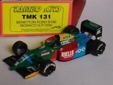 KIT MONTE TAMEO BENETTON FORD B190 GP MONACO 1990 1:43