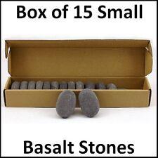 Masaje De Piedras Calientes Caja De 15 pequeños Basalto Piedras 6x4x2cm