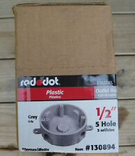 "NEW REDDOT Box of 8 1/2"" Round Plastic Electrical Outlet Box 130894 E365DRL"