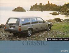 Volvo 940 Classic 1996 UK Market Foldout Sales Brochure 2.3T Saloon Estate