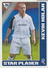 N°111 KEVIN NOLAN BOLTON WANDERERS STICKER MERLIN PREMIER LEAGUE 2006