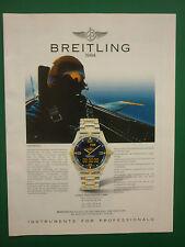 12/1994 PUB MONTRE BREITLING WATCHES AEROSPACE AVIATION ORIGINAL GERMAN AD