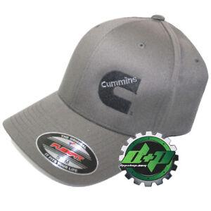 Dodge Cummins hat ball cap fitted flex fit flexfit stretch dark gray grey S/M