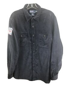 Team USA 2010 Vancouver Olympics Polo Ralph Lauren Corduroy Shirt Jacket - Large