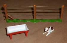 very rare EG TOYS Ezio Guggiari dog , fence and feed trough vintage