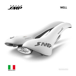 Selle SMP WELL Saddle Road MTB Bicycle Seat : 2021 WHITE - MADE IN iTALY!