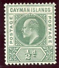 Cayman Islands 1905 KEVII ½d green MLH. SG 8. Sc 8.