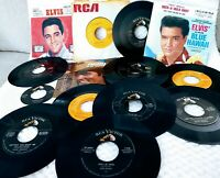 Lot : 12 ELVIS PRESLEY 45rpm GOLD STANDARD Sleeved NO DOUBLES Juke Box Reissues