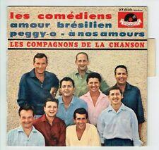 LES COMPAGNONS DE LA CHANSON Vinyle 45T EP LES COMEDIENS -PEGGY -27010 Languette