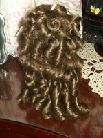 """Lot of 2 Medium Brown Doll Wigs, for Antique Doll, LONG CURLS ! size 10"""""""