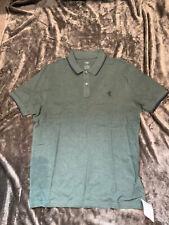 M&S Men's Cotton Polo Shirt BNWT Size Medium, Cedar Green Colour
