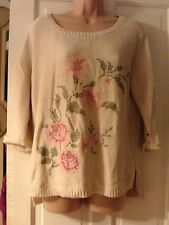 CREAM JUMPER BY MONSOON SIZE MEDIUM