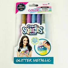 Cra-Z-Art Squeezies Markers Glitter Metallic Pack of 5 Color Stix New! B107