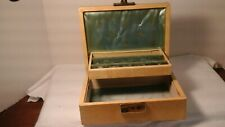 vintage  50's  hinged jewelry box