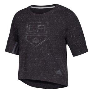 Los Angeles Kings NHL Adidas Women's Black Front Sport 2 Street Top T-Shirt
