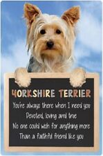 Yorkshire Terrier 3D home hang up sign