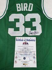 100% Authentic NBA Legend Larry Bird Signed Boston Celtics Green Jersey with COA