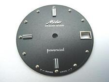 Mido Ocean Star Powerwind Watch Dial Vintage Black Silver Dot Markers 28.05mm