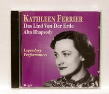 KATHLEEN FERRIER, JULIUS PATZAK - MAHLER Das Lied von der Erde REGIS CD NM