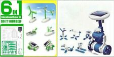 6 IN 1 Solar Toy DIY Robots Plane Educational Kid Gift Creative 2 pack
