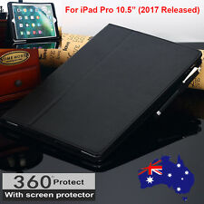 "BLACK Leather Smart Flip Folio Stand Case Cover for NEW iPad Pro 10.5"" inch 2017"