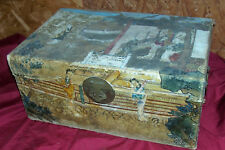 Antique Japanese Chest Box Trunk Small Little Old Vintage Japan Geisha Clothing