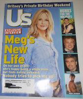 Us Weekly Magazine Meg Ryan & Tom Cruise & Brad Pitt December 2001 071314R