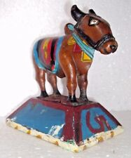 Indian Old Wooden Hand Crafted And Painted Beautiful Cow Statue #026