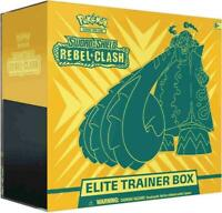 AUTHENTIC SWSH Rebel Clash SEALED Elite Trainer Box (OFFICIAL Pokemon Cards)