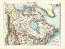 Antique Map-NORTH AMERICA-CANADA-USA-Andree-1904