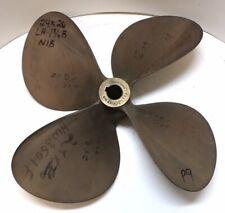 "24 x 26 NIBRAL Bronze 4 Blade Propeller LH 1-3/4"" Bore Inboard Wheel Prop P9"