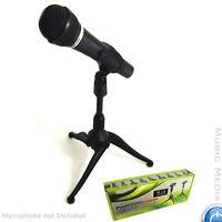 Black Adjustable Desktop Studio Microphone Mic Stand Holder MSN Skpe Home Studio