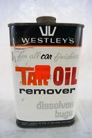 Vintage Westley's Tar & Oil Remover Metal Tin Advertising
