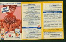 Selbstgemachte Marmelade mit Opekta Südzucker altes Faltprospekt 1960er Rezepte