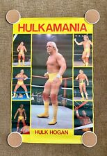 Vintage 1st Poster WWF 1984 Hulk Hogan Hulkamania Super Rare WWE 22x34 Ex Cond!