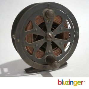 Early Pflueger SAL-TROUT Fly Fishing Reel w/ Twisted Copper Wire Line