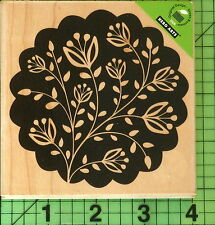 Large Floral Scallop rubber stamp by Hero Arts S5363
