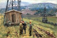 painting landscape socrealism Smirnov figurative genre industry Realism electric