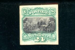 USAstamps Unused VF US 1869 Pictorial Issue Proof On Card Scott 120
