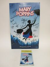 SIGNED by MARY POPPINS: The Musical Cast POSTER +Showbill Magazine /Disney Brown