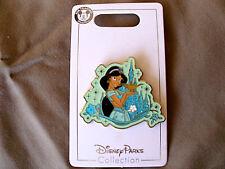 Disney * PRINCESS JASMINE & SPARKLE CASTLE * New on Card Trading Pin