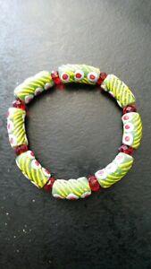 Beautiful Bracelet Ethnic IN Beads Glass Millefiori Africa Original G