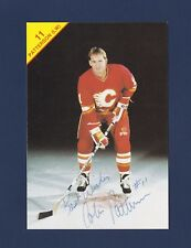 Colin Patterson signed Calgary Flames vintage team issued hockey postcard