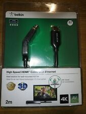 Belkin High Speed HDMI Cable with Ethernet 180° Dual-Swivel 2M 3D Compatible.